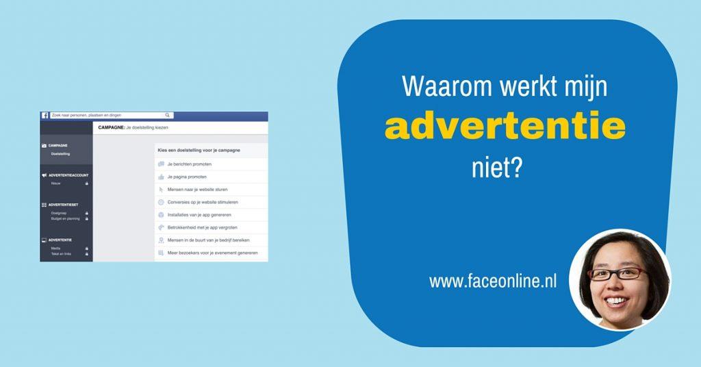 Facebook advertentie