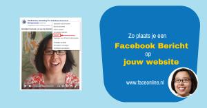 Zo plaats je een Facebook bericht op jouw website
