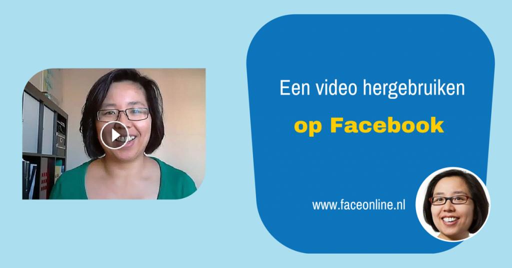 Een video hergebruiken op FB
