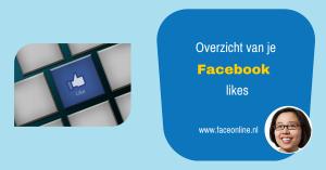 Waar vind ik een overzicht van iedereen die mijn Facebook pagina geliked heeft?