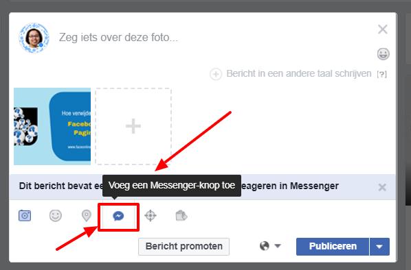 Facebook messenger knop toevoegen aan bericht - Maureen Mulder maureenmulder.nl