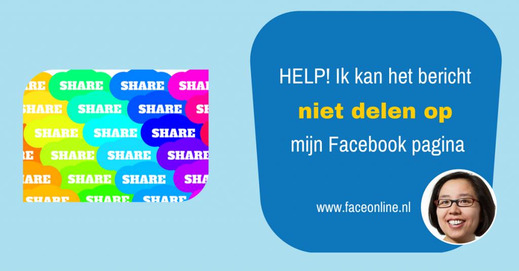 Ik kan het Facebook bericht niet delen op mijn Facebook pagina - Maureen Mulder maureenmulder.nl